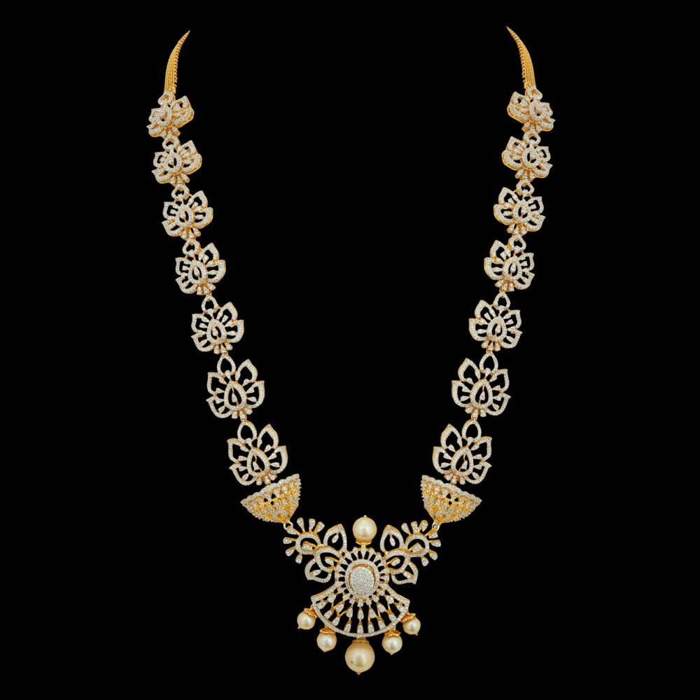 Pearl, Gold and Diamond Necklace
