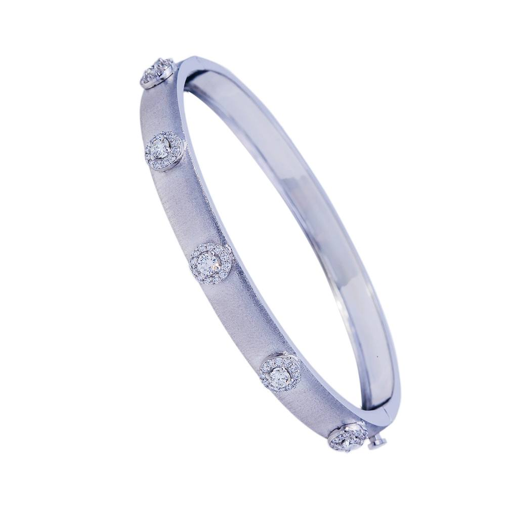 Diamond Round Bangle Bracelet