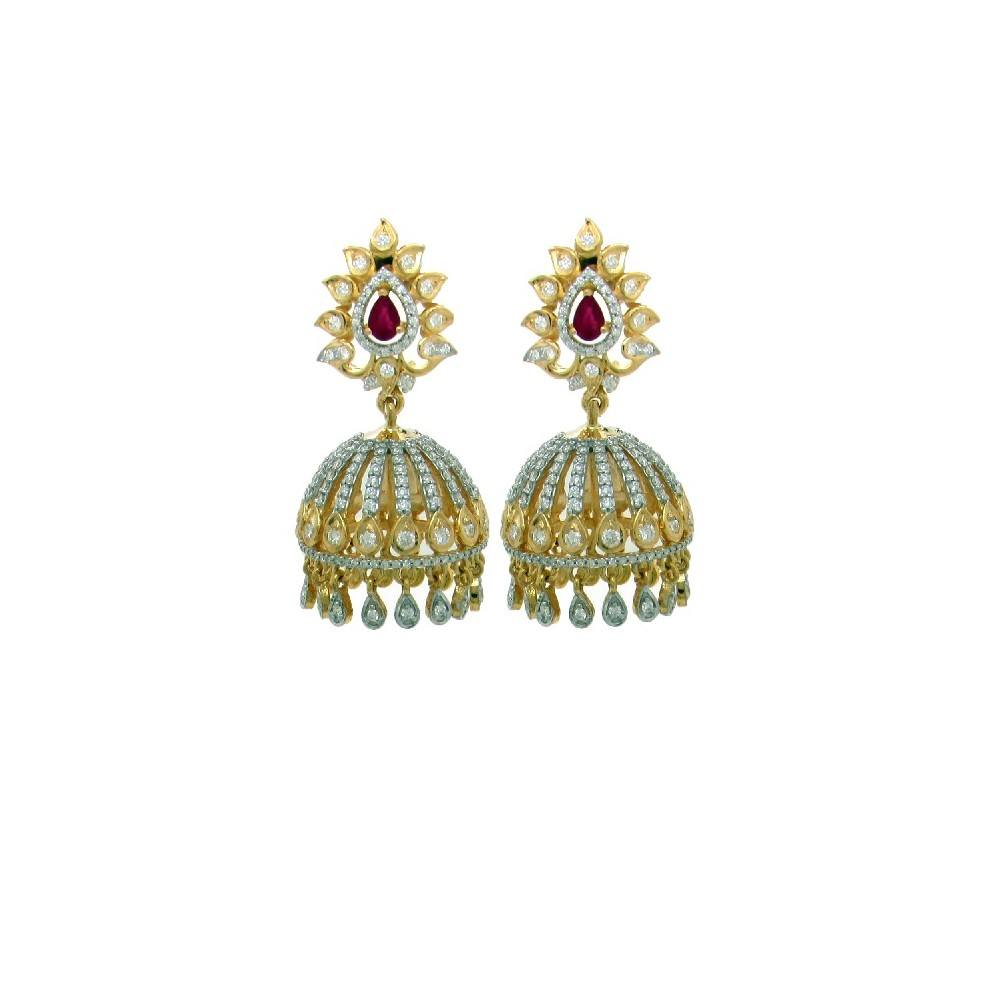 6 in 1 Multiway Diamond Jhumka Earrings