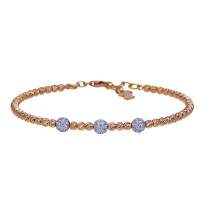 round beaded diamond flex bracelet
