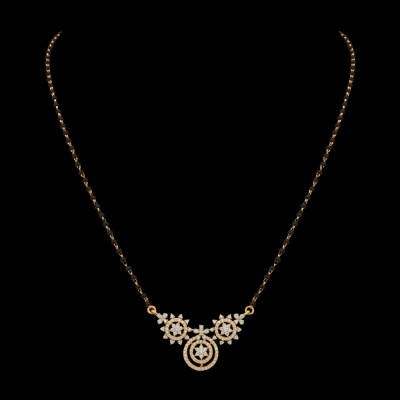 delicate diamond mangalsutra necklace