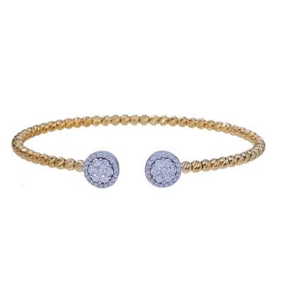 round open diamond bangle bracelet