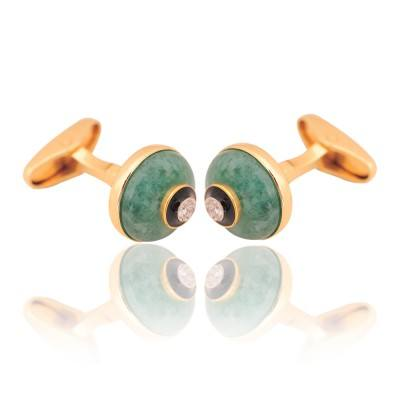 emerald diamond cufflinks